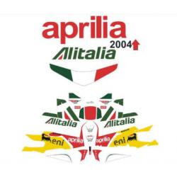 Kit Adhésif Aprilia RSV 1000 Alitalia DEC00000167 DECALMOTO