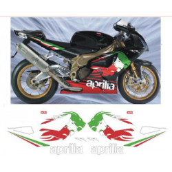 Kit Adhésif Aprilia RSV 1000 TRICOLORE RR DEC00001729 DECALMOTO