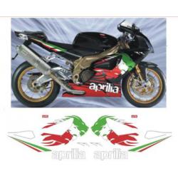 Kit Adhésif Aprilia RSV 1000 TRICOLORE RR