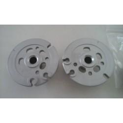 Paire de poulies de valves BC Engineering Aluminium anodisé naturel Aprilia RS 250 Suzuki RGV 250