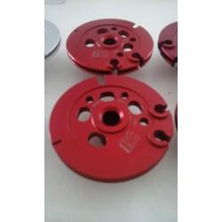 Paire de poulies de valves - Aluminium taillé masse anodisé ROUGE - Aprilia RS 250 / Suzuki RGV 250 - BC ENGINEERING BCVJ22K0...