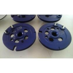 Paire de poulies de valves - Aluminium taillé masse anodisé BLEU - Aprilia RS 250 Suzuki RGV 250 - BC ENGINEERING BCVJ22K009B...