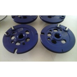 Paire de poulies de valves BC Engineering Aluminium anodisé bleu Aprilia RS 250 Suzuki RGV 250