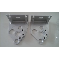 Supports de poulies de valves aluminium taillé masse anodisation naturel - Aprilia RS 250 et Suzuki RGV 250 - BC ENGINEERING ...