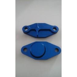 Platine de suppression de pompe à huile pour Aprilia 125 - Rotax 122/123 - Aluminium taillé masse - BLEUE - BC ENGINEERING BC...