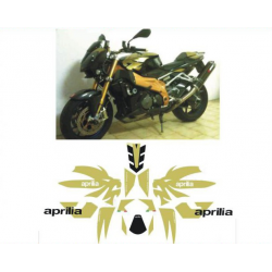 Kit adhésifs Aprilia 1000 Tuono 2006 Dark Lyon DEC00000179 DECALMOTO