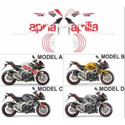Kit adhésifs Aprilia Tuono 1000 V4 2011-2014 Replica DEC00002815 DECALMOTO