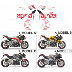 Kit adhésifs Aprilia Tuono 1000 V4 2011-2014 Replica