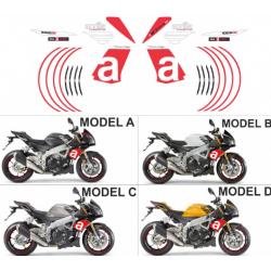 Kit adhésifs Aprilia Tuono 1000 V4 2011-2014 RR Replica