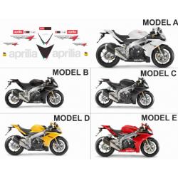 Kit adhésifs Aprilia RSV4 1000 2012-2014 DEC00001235 DECALMOTO