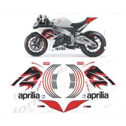 Kit adhésifs Aprilia RSV4 1000 LION DEC00001611 DECALMOTO