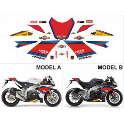 Kit adhésifs Aprilia RSV4 1000 Replica Martini Tribute DEC00001232 DECALMOTO
