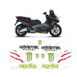 Kit adhésifs Aprilia SRV 850 MONSTER DEC00001566 DECALMOTO