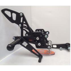 Commandes reculées réglables Honda CBR 600 RR 2007-2015 SES PRODUCTS