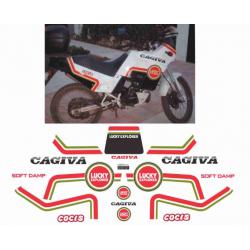 Kit adhésifs Cagiva COCIS 1988 LUCKY EXPLORER DEC00002087 DECALMOTO