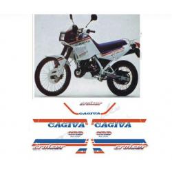 Kit adhésifs Cagiva CRUISER 125 1987 DEC00002541 DECALMOTO