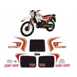 Kit adhésifs Cagiva ELEFANT 125 1984 DEC00002069 DECALMOTO