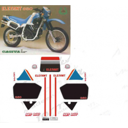 Kit adhésifs Cagiva ELEFANT 350 1986 DAKAR DEC00002062 DECALMOTO
