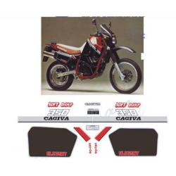 Kit adhésifs Cagiva ELEFANT 350 E DEC00002107 DECALMOTO