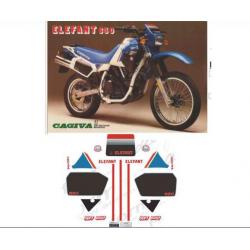 Kit adhésifs Cagiva ELEFANT 650 1986 DAKAR DEC00002146 DECALMOTO