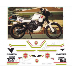 Kit adhésifs Cagiva ELEFANT 750 1987 LUCKY EXPLORER simple phare DEC00002089 DECALMOTO