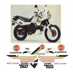 Kit adhésifs Cagiva ELEFANT 750 LUCKY EXPLORER double phare - 1988 DEC000020750 DECALMOTO
