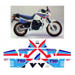 Kit adhésifs Cagiva ELEFANT 750 1989 DEC00002077 DECALMOTO