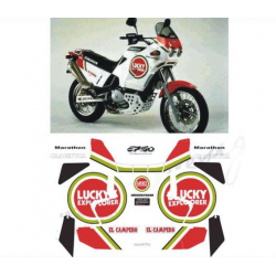 Kit adhésifs Cagiva ELEFANT 750 MARATHON LUCKY EXPLORER DEC00002108 DECALMOTO