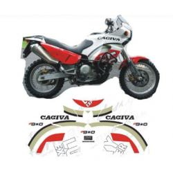 Kit adhésifs Cagiva ELEFANT 900 LUCKY EXPLORER - 1995 DEC00002044 DECALMOTO