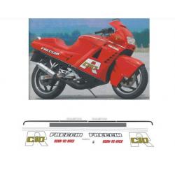 Kit adhésifs Cagiva 125 FRECCIA C10 R 1988 ROSSA DEC00002303 DECALMOTO