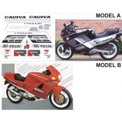 Kit adhésifs Cagiva 125 FRECCIA C12 R 1989 DEC00002042 DECALMOTO