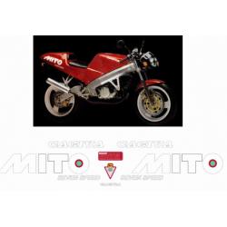 Kit adhésifs Cagiva 125 MITO 1989 DEC00002080 DECALMOTO