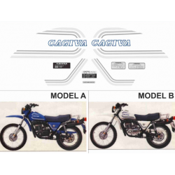 Kit adhésifs Cagiva SX 125 250 350 1980 DEC000020740 DECALMOTO