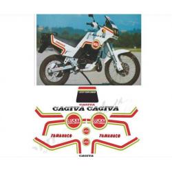 Kit adhésifs Cagiva TAMANACO 125 1988 LUCKY EXPLORER DEC00002081 DECALMOTO