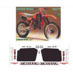 Kit adhésifs Cagiva WMX 125 1986 DEC00002067 DECALMOTO