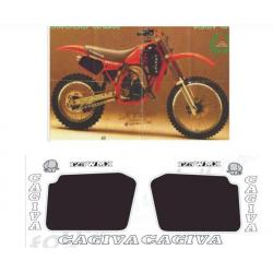 Kit adhésifs Cagiva WMX 125 1987 DEC00002098 DECALMOTO