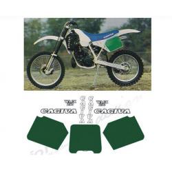 Kit adhésifs Cagiva WMX 250 1988 DEC00002496 DECALMOTO