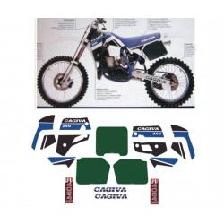 Kit adhésifs Cagiva WMX 250 1989 DEC000020770 DECALMOTO
