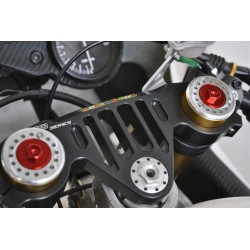 Bouchons de fourche Melotti Racing Aprilia RS 125 rouge