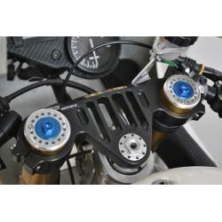 Bouchons de fourche Melotti Racing Aprilia RS 125 bleu