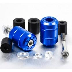 Embouts de guidon Aluminium Universels - Bleu- Pro-Bolt BARENDUN10B PRO-BOLT
