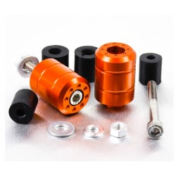 Embouts de guidon Aluminium Universels - Orange - Pro-Bolt BARENDUN10O PRO-BOLT