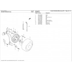 Rondelle de rotor d'allumage - Pièce d'origine Suzuki - Aprilia RS 250 / Suzuki RGV 250 - SUZUKI OEM 09160-12051-000 SUZUKI OEM