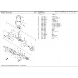 Rondelle de calage de pied de bielle - Pièce d'origine Suzuki - Aprilia RS 250 / Suzuki RGV 250 - SUZUKI OEM 09169-16007-000