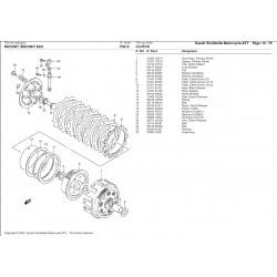 Disques d'embrayage lisses (x6) - Pièce d'origine Suzuki - Aprilia RS 250 / Suzuki RGV 250 - SUZUKI OEM 21451-28C31-000 SUZUK...
