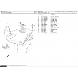 Silent-bloc inférieur de réservoir - Pièce d'origine Suzuki - Suzuki RGV 250 - SUZUKI OEM 09320-10020-000 SUZUKI OEM