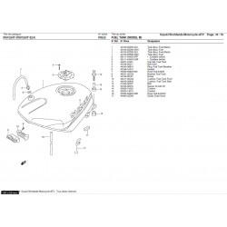 Silent-bloc latéral de réservoir - Pièce d'origine Suzuki - Suzuki RGV 250 - SUZUKI OEM 44545-20A00-000 SUZUKI OEM