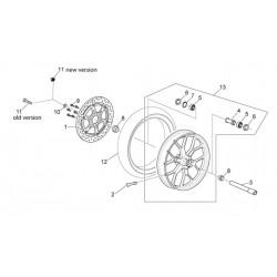 Joint spi de roue d'origine pour Aprilia RS 125 - APRILIA OEM AP8110109 Aprilia OEM