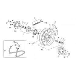 Joint spi de roue d'origine pour Aprilia RS 125 - APRILIA OEM AP8125841 Aprilia OEM