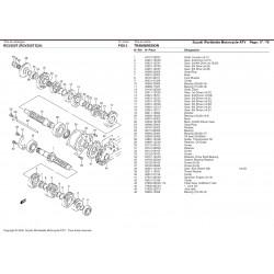 Roulement cage acier 25x62x17 - Aprilia RS 250 / Suzuki RGV 250 - SKF 6305/C3 SKF